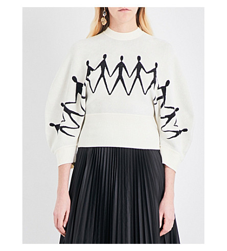 SPORTMAX Tony knitted jumper (Ivory