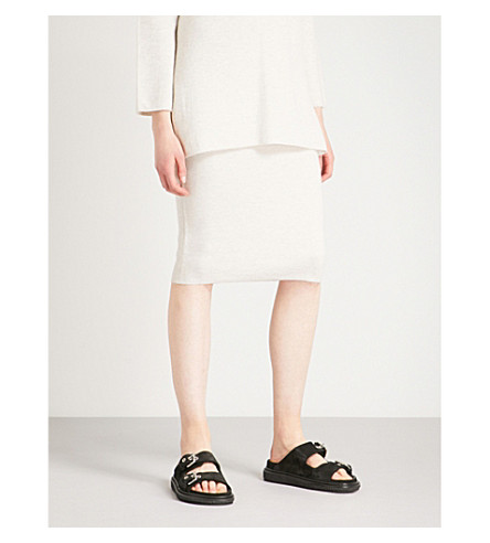 S MAX MARA Tubinga wool-blend skirt (Ice