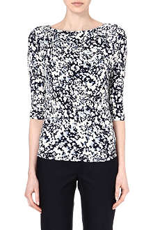 MAX MARA STUDIO Floral long-sleeved top
