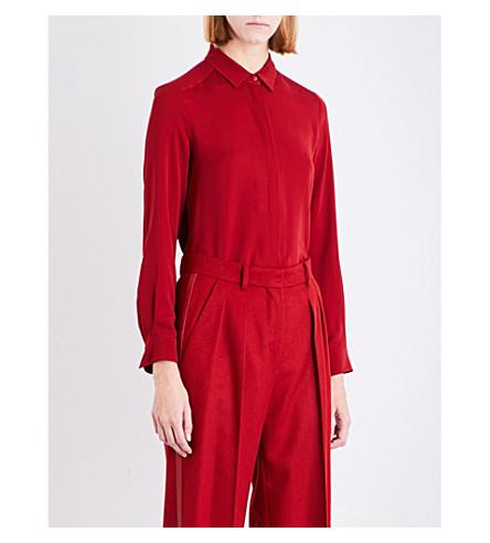 MAX MARA Tuono silk blouse (Red