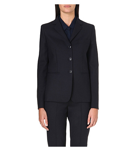 MAX MARA Ugola stretch-wool blazer (Navy