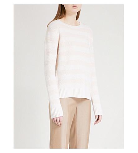 MAX MARA Ulisse waffle-knit cashmere jumper (Camel+-+ice