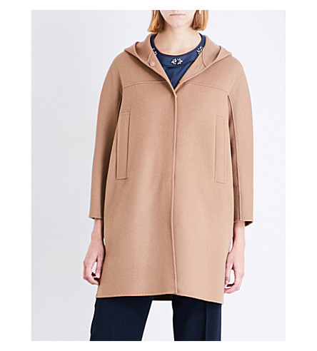 S MAX MARA Unghia brushed wool coat (Camel