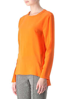 SPORTMAX Long-sleeved silk tunic top