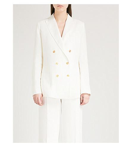 MAX MARA Urta double-breasted linen jacket (White