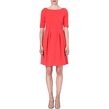 MAX MARA STUDIO A-line crepe dress (Red