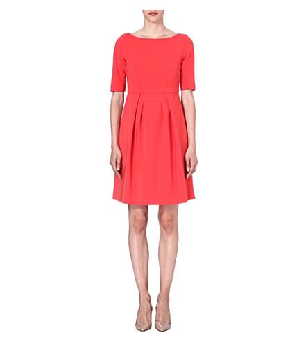 MAX MARA STUDIO A-line crepe dress (Red