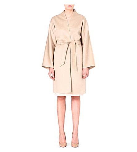 MAX MARA Cashmere wrap coat (Sand