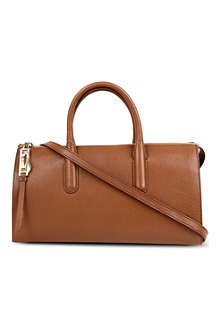 MAX MARA Vega leather bowling bag