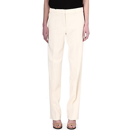 S MAX MARA Straight-leg crepe trousers (Cream