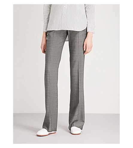 MAX MARA Verba straight wool-blend trousers (Black
