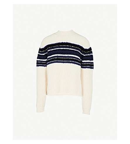 SPORTMAX Vernice cotton-blend jumper (Ivory