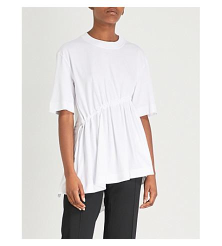 SPORTMAX Vetta drawstring-waist cotton-jersey T-shirt (Milk