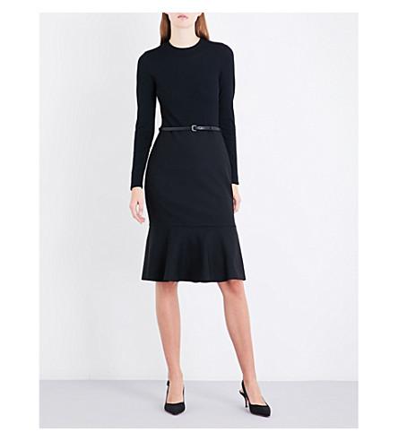 MAX MARA Vidim belted stretch-wool dress (Black