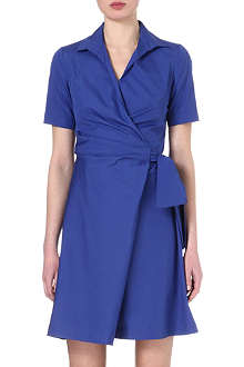 MAX MARA Poplin wrap shirt dress