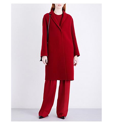 S MAX MARA Viglio brushed-wool coat (Red