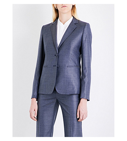 MAX MARA Vinci wool and silk-blend blazer (China+blue