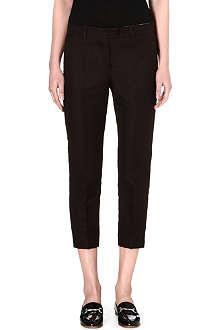 S MAX MARA Vino cropped jacquard trousers