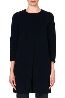 S MAX MARA Collarless wool cocoon coat