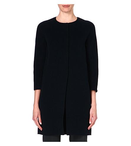 S MAX MARA Collarless wool cocoon coat (Emerald