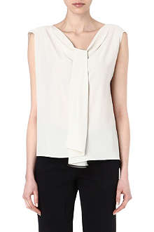 MAX MARA Draped silk top