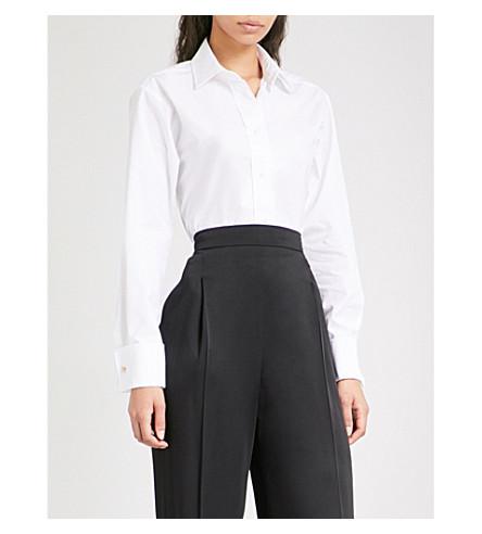 MAX MARA Visivo cotton-poplin shirt (White