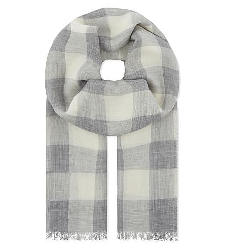 MAX MARA Elsa cashmere scarf (Light+grey