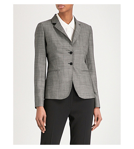 MAX MARA Zac single-breasted woven blazer (Black