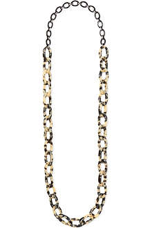S MAX MARA Tortoise shell linked necklace