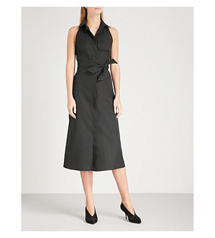 MAX MARA Trench cotton dress (Black