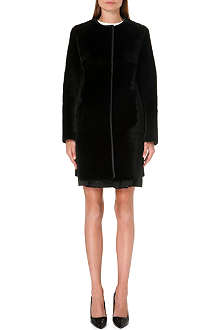 MAX MARA STUDIO Zelig collarless shearling coat