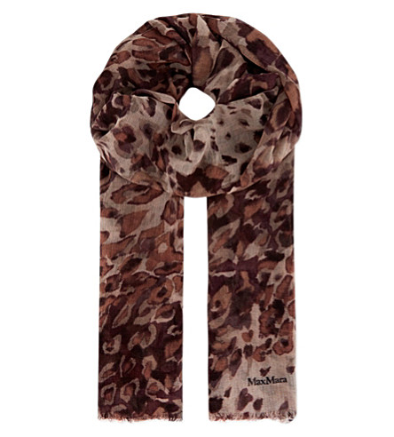 MAX MARA Speckled marble scarf (Wine