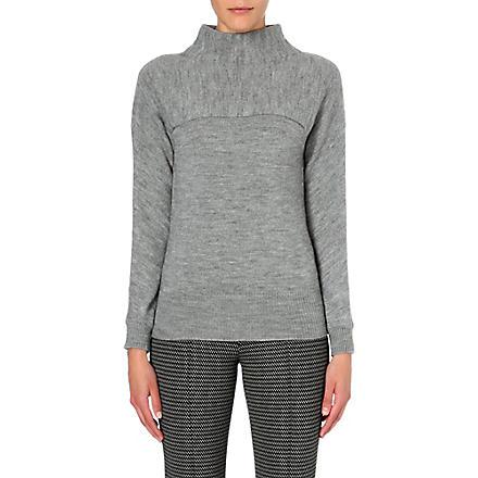 MAX MARA STUDIO Funnel-neck knitted jumper (Grey