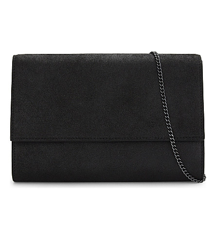 MAX MARA Leather clutch (Black