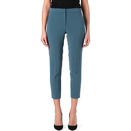 MAX MARA Straight cropped trousers (Teal