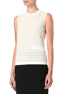 MAX MARA PIANOFORTE Floral-embroidered knitted top