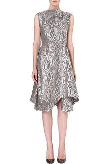ANGLOMANIA Aztek metallic draped dress