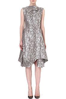 ANGLOMANIA Aztek metallic draped dress