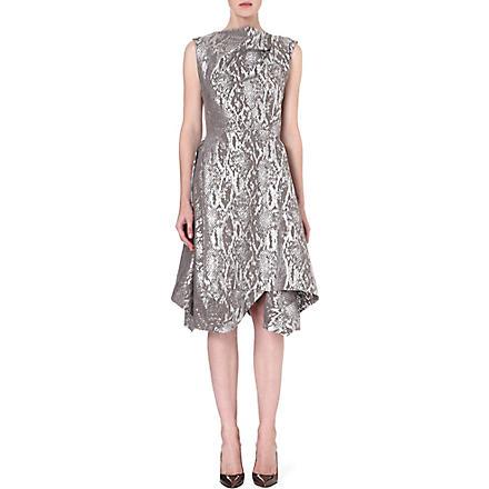 ANGLOMANIA Aztek metallic draped dress (Grey