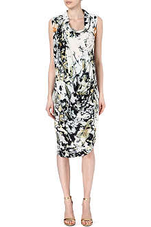 ANGLOMANIA Tie-dye silk-blend dress