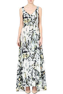 ANGLOMANIA Zeta tie-dye silk-blend maxi dress