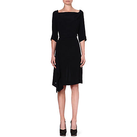 ANGLOMANIA Solstice crepe dress (Black