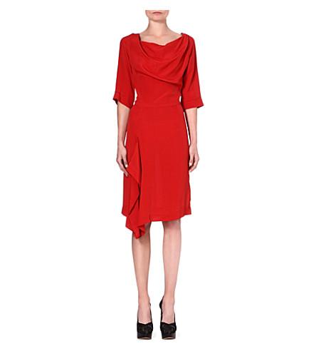 ANGLOMANIA Solstice crepe dress (Orange