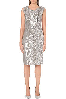 ANGLOMANIA Ocean metallic snake-print dress