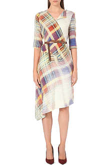 ANGLOMANIA Faded tartan contour dress