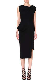 ANGLOMANIA Fitted crepe midi dress