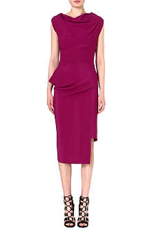 ANGLOMANIA Redman draped crepe dress