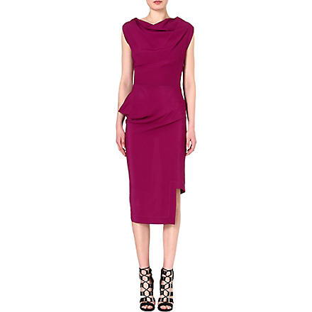 ANGLOMANIA Redman draped crepe dress (Purple