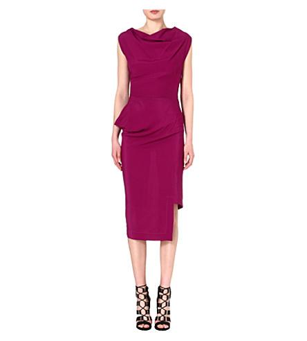 ANGLOMANIA Redman draped crepe dress (Purple