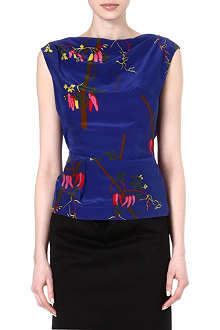 ANGLOMANIA Prophecy floral-print top